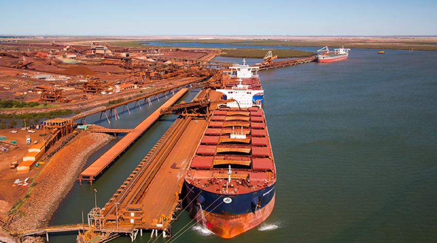 میزان صادرات سنگ آهن بندر هدلند استرالیا در ماه آگوست افزایشی بود