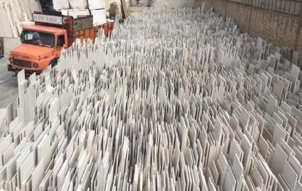 بازار سنگ ساختمانی ایران در مخاطره حضور دلالان عراقی/ 90 درصد سنگ ایران به صورت بلوک به چین صادر می شود