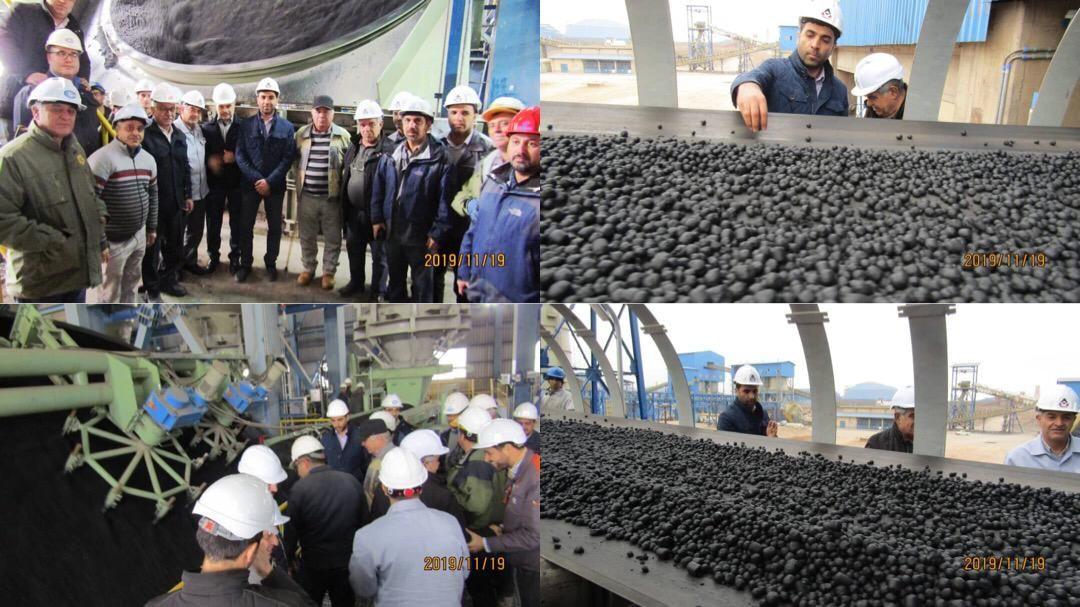 آغاز تولید گندله خام اولیه در شرکت صنعتی و معدنی توسعه فراگیر سناباد طی آبان ماه سال جاری