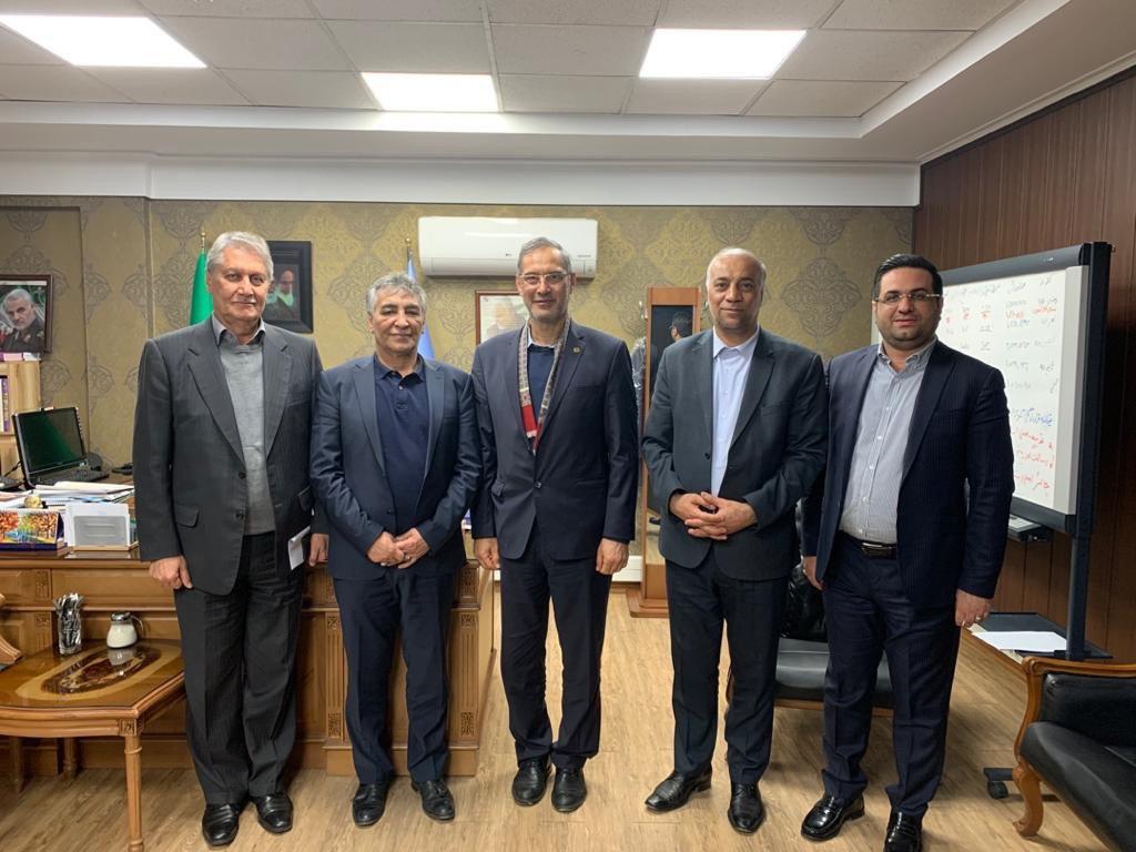 دیدار مدیر عامل پتروشیمی بوشهر با مدیر عامل و مسئولین شرکت گهرزمین