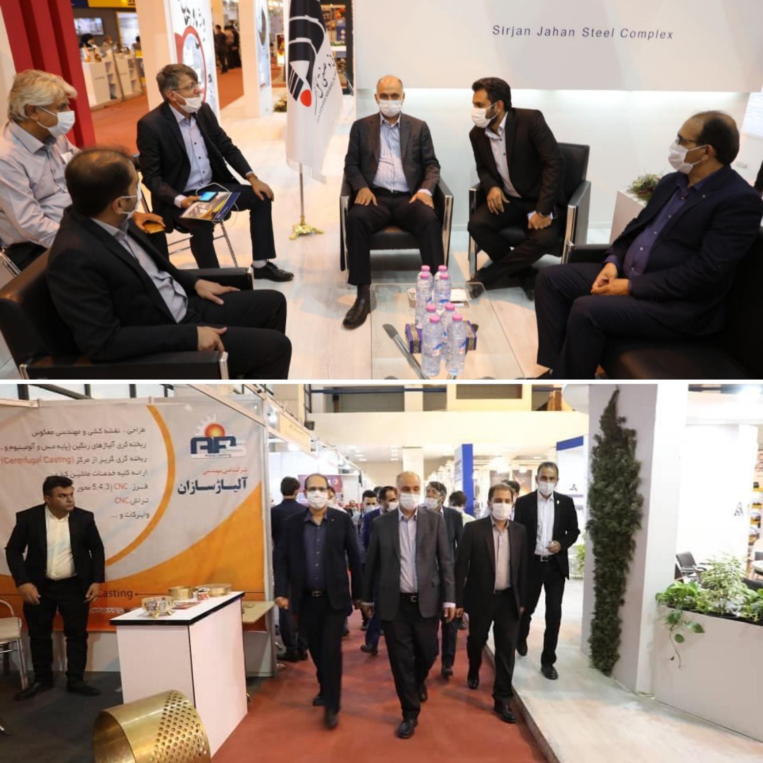 بازدید جمشید ملارحمان از هشتمین نمایشگاه بینالمللی معدن، صنایع معدنی و فرآوری مواد معدنی و تجهیزات وابسته استان کرمان